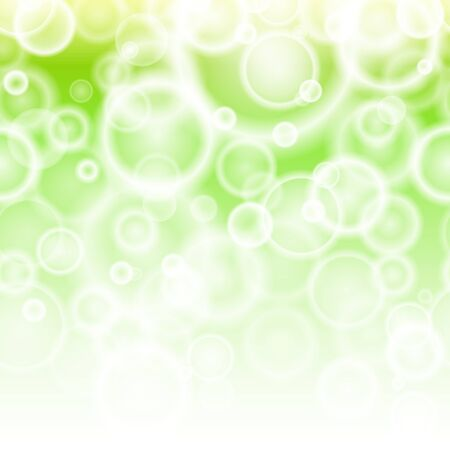 Horizontal Seamless Spring Bokeh abstract background with bubbles Stock Vector - 18688495