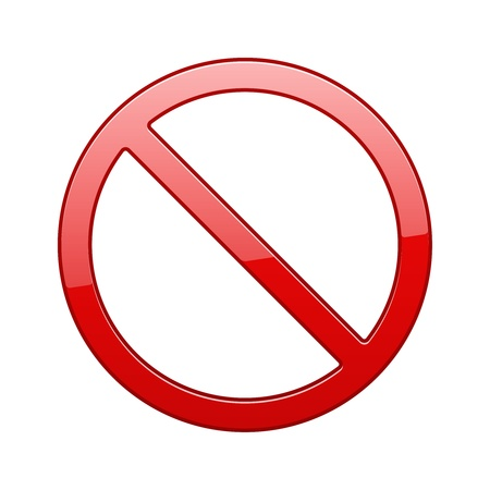 No Sign, No symbol, Not Allowed isolated on white background Stock Vector - 18676054