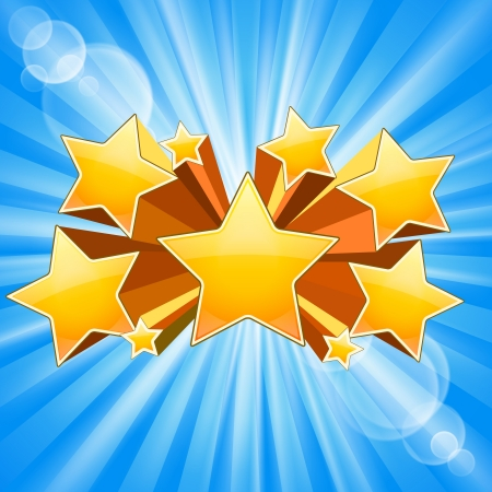 star shape: Abstract Star Burst Background with rays flare