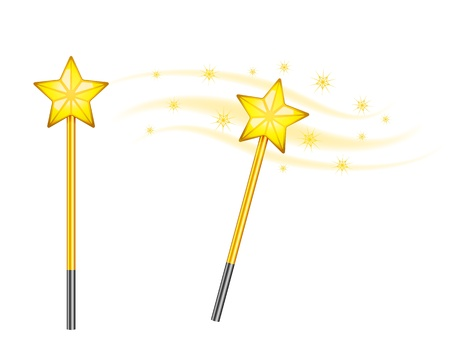 Star magic wand isolated on white background Stock Vector - 18836967