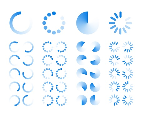 Transparent Progress Indicators icons isolated on white background Stock Vector - 18844825