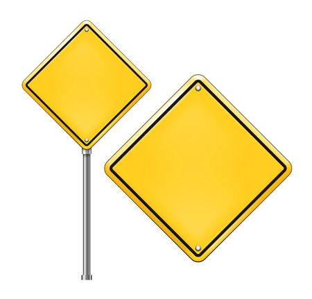 Vector Blank Traffic Sign isolated on white background Stock Vector - 18836970
