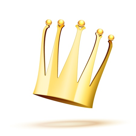 Falling Gold Crown isolated on white background Stock Vector - 18979944