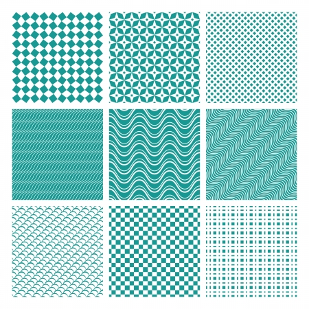Set of  Monochrome seamless pattern textures Stock Vector - 18979936