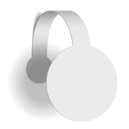 wobbler: White advertising wobbler isolated on white background