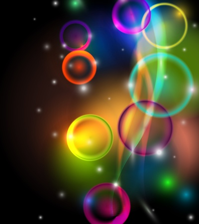 Vertical Abstract colorful lights on black background Stock Vector - 18979956