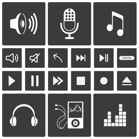 Sound icons  Music icon set  Vector illustration Stock Vector - 19099491