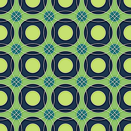Seamless Circles Retro Pattern Background blue on green Stock Vector - 19099499