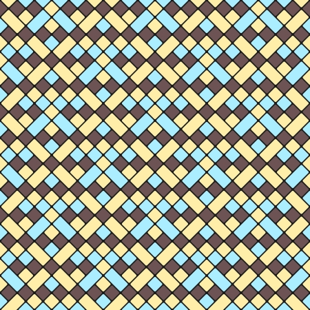 Seamless Abstract Geometric Pattern with blue and yellow Stock Vector - 19099492