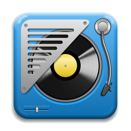 Turntable musical Vector Icon isolated on white background Vector