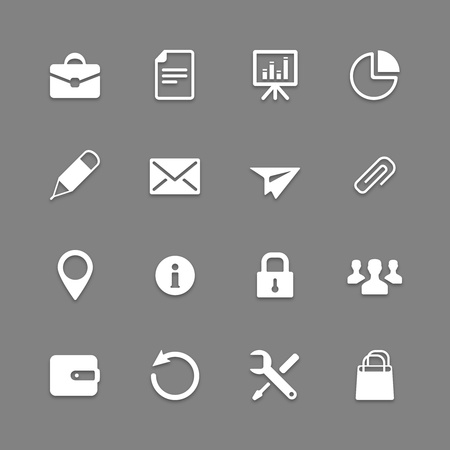 Icon collection for Web and Mobile applications Stock Vector - 19263010