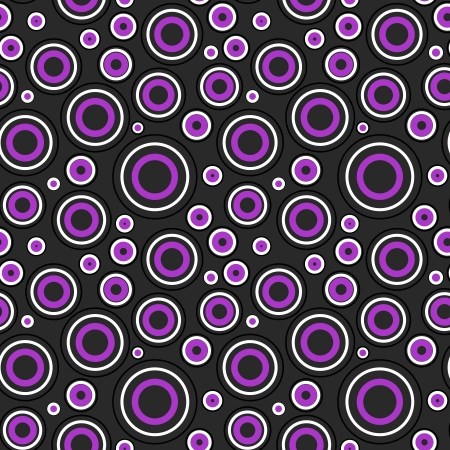 Modern white and purple circles pattern on black background Stock Vector - 19263004