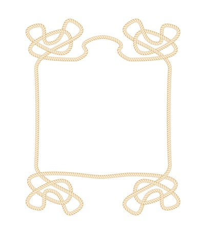 Vector Rope Frame isolated on white background Stock Vector - 19263006