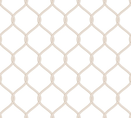 Rope Knot Seamless Pattern isolated on white background Stock Vector - 19263011