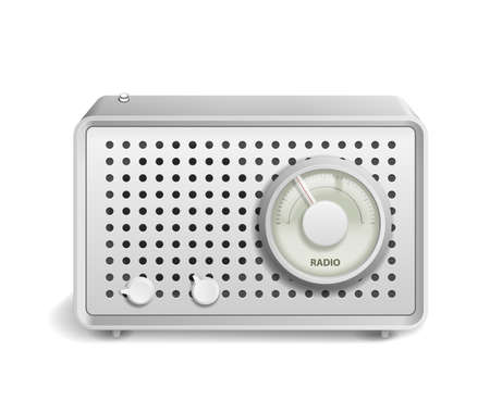 Vector Retro Radio icon isolated on white background Stock Vector - 19263009