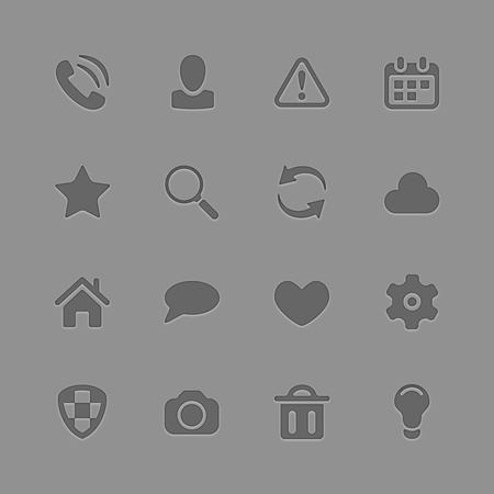 Universal Outline Icons For Web and Mobile Stock Vector - 19263017