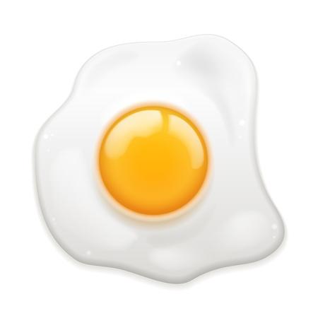 Vector Fried Egg geïsoleerd op witte achtergrond