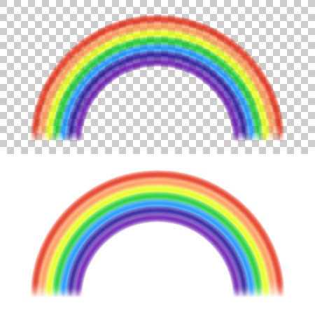 Vector Rainbow on transparent and white background Stock Vector - 19374237