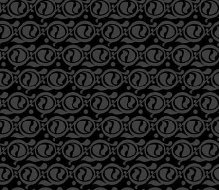 Monochrome Seamless swirl pattern on black background Stock Vector - 19665029