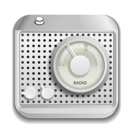 Radio app icon isolated on white background Stock Vector - 19665062