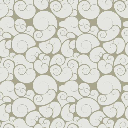 Abstract seamless floral swirls wallpaper with curls Stock Vector - 19982127