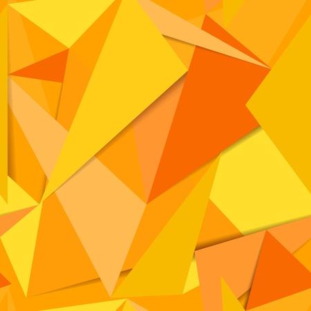 repujado: Sin problemas de fondo amarillo Resumen de restos de papel Vectores