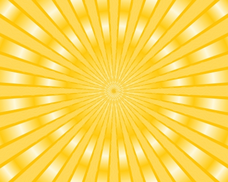 Yellow stripes background with golden rays Stock Vector - 19982132