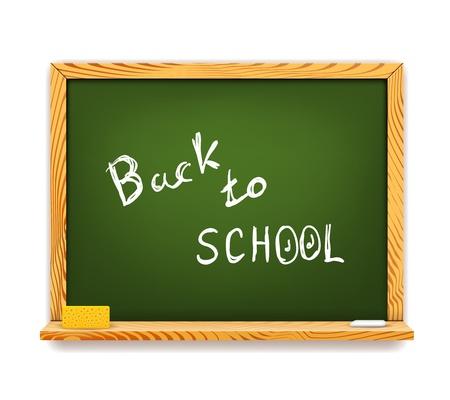 green chalkboard: Green Chalkboard Back to School isolated on white