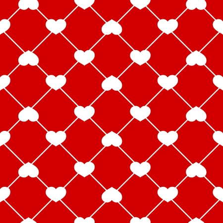 Seamless heart pattern on Red background Stock Vector - 20408058