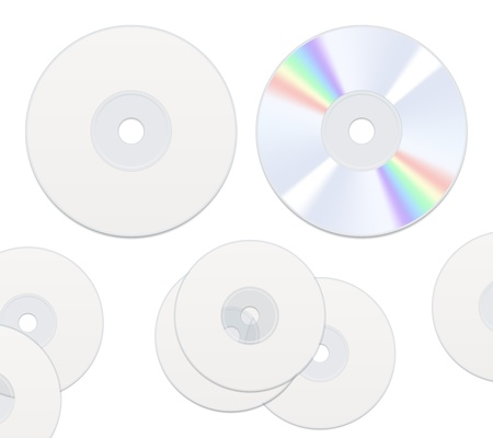 sides: Two sides DVD or CD disc isolated on white Illustration