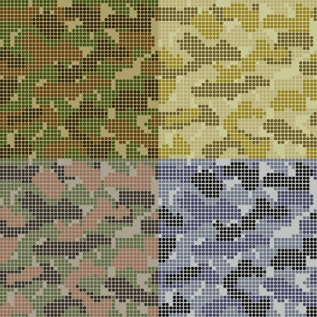 Dotted Camouflage Patterns Set in different colors Stock Vector - 20401569