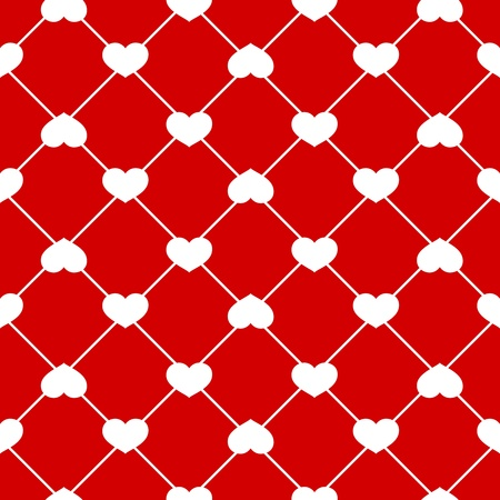 Vector Seamless heart pattern on Red background Stock Vector - 20881141