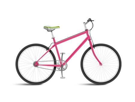 Cute Pink Bicycle isolated on white background Stock Vector - 20881145