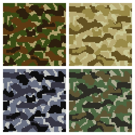 Seamless Vector Pixel Camouflage Patterns Set Background Stock Vector - 20881155