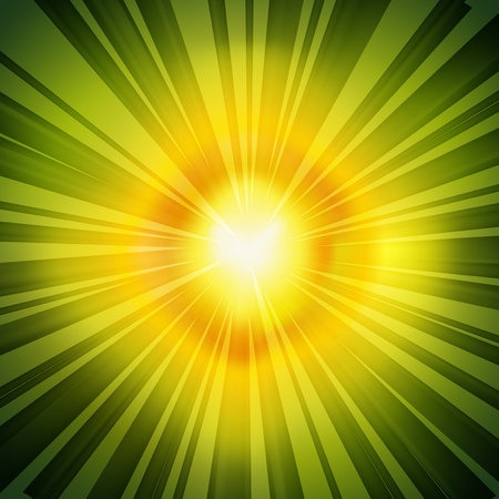 Green Retro Radial Rays Background, sun flash Stock Vector - 20881159