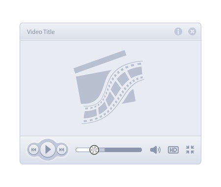 Video Player Skin isolated on white background Stock Vector - 20881164
