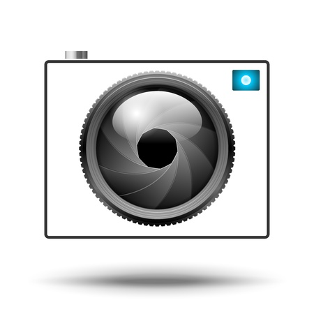 Vector Camera Icon isolated on white background