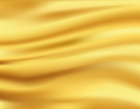 Yellow waves background, gold cloth in wind
