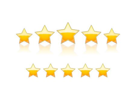 five star: 5 gold stars Vector Illustration isolated on white