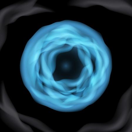 Vector Blue Sphere Molecule on black background Stock Vector - 21576518