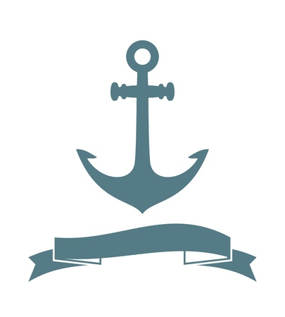 Anchor badge isolated on white  Vector Illustration Stock Vector - 21576519