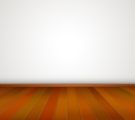 Empty room with White Wall and Wood Floor  Vector Illustration Stock Vector - 21576528