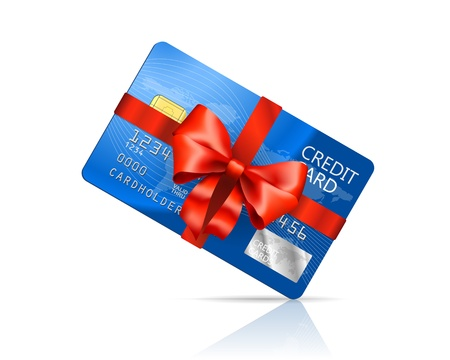 Gift Credit Card isolated on white background Stock Vector - 21937766