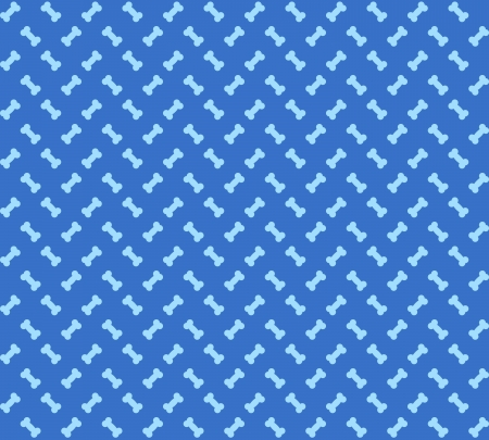 Dog Bones seamless texture pattern on blue background Stock Vector - 22095585