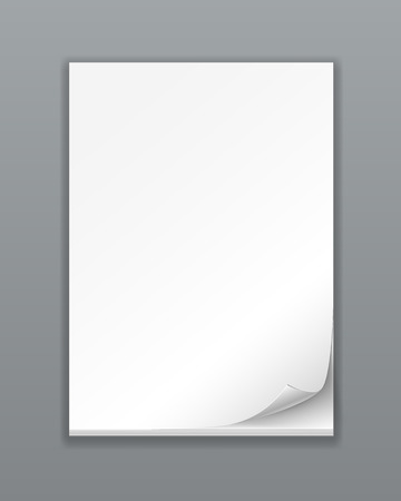 Vector Empty Paper Stack on white background