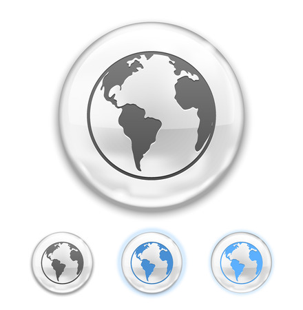 Vector Globe Button isolated on white background Stock Vector - 22786998