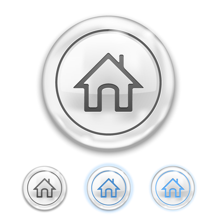Home Icon on Button normal, hover, pressed Stock Vector - 22787002
