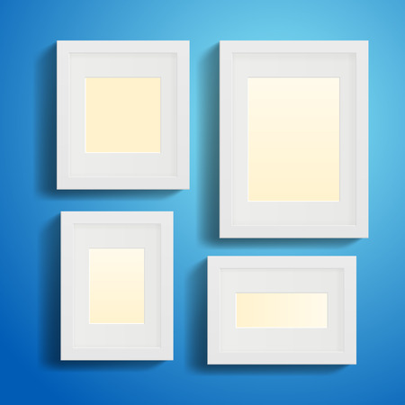 Modern Picture or Photo Frames with shadows Vector