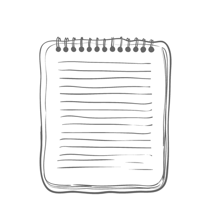 pocketbook: Sketch Notebook on white background Vector Illustration Illustration