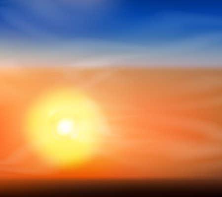 Cute Sunrise or sunset background Vector Illustration Stock Vector - 22787009